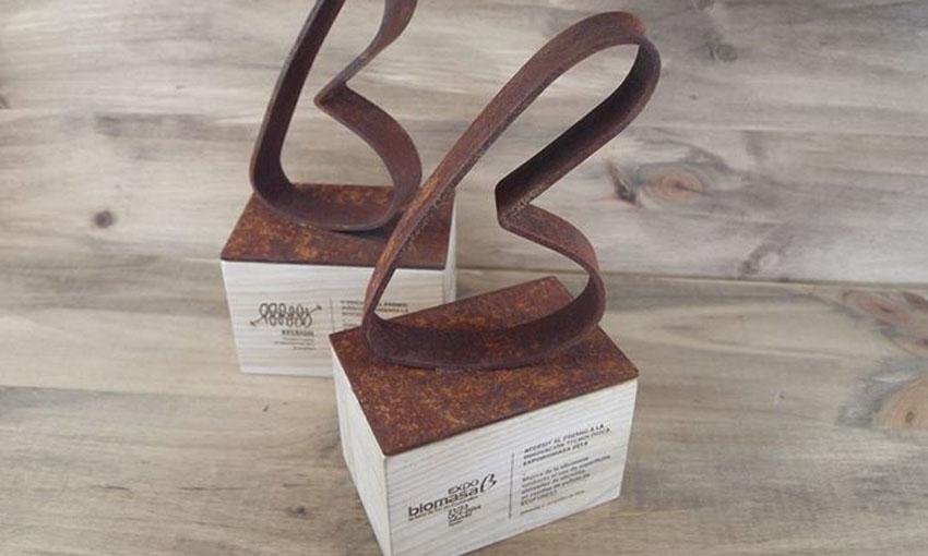 Trophée métal et bois