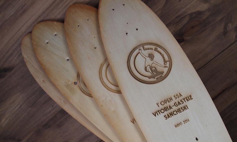 Trophée en bois planche